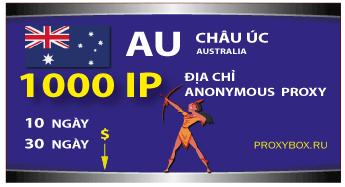 CHÂU ÚC. 1000 địa chỉ IP