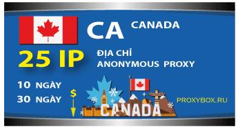 CANADA. 25 địa chỉ IP