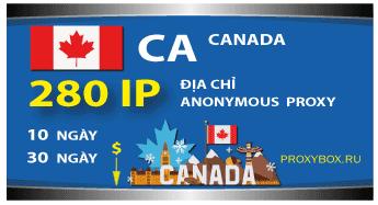 CANADA. 280 địa chỉ IP