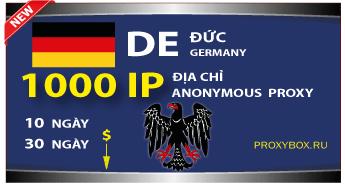 NƯỚC ĐỨC 1000 địa chỉ IP