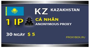 KZ (Kazakhstan) Personal 1 IP proxy