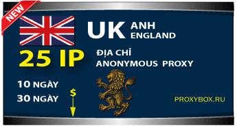 Nước Anh. 25 địa chỉ IP