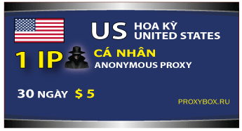 US personal 1 IP proxy