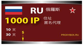 Russia 1000 IP address