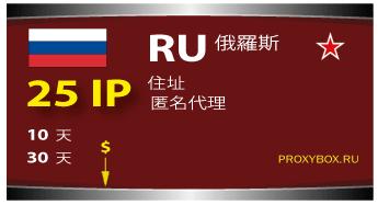俄罗斯 25 IP proxies