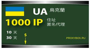 乌克兰1000个代理的IP地址