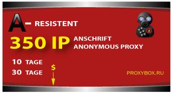 Widerstandsfähig proxy 350 IP Adressen.