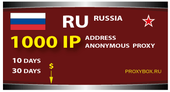 Russian proxy 1000 of IP addresses