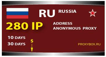 RUSSIA 280 IP Proxy