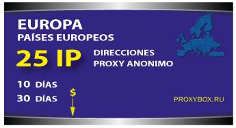 Europa 25 IP proxies