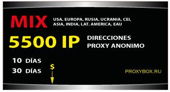 Proxy List 5500 of IP direcciones