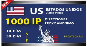 US 1000 IP proxies