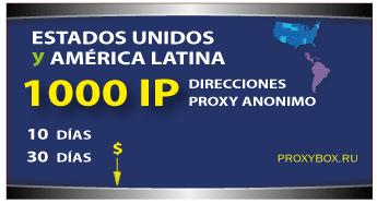 US - LATINA 1000 IP proxies