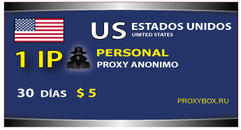 USA personal proxy. 1 IP proxy