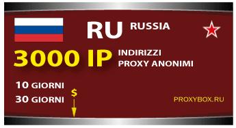 Russia proxy 3000 IP
