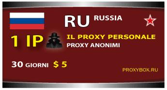 Proxy personale 1 IP, la Russia