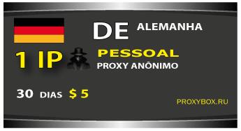 Alemanha 1 proxy pessoal anônimo IP