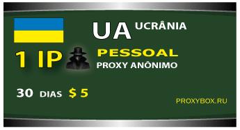 Ucrânia 1 IP proxy anônimo pessoal