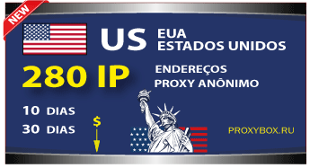 EUA 280 IP. Proxy anônimo