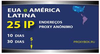 25 EUA e América Latina. Proxy anônimo