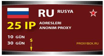 Rusya proxy - 25 IP adresleri