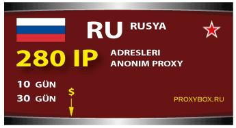 Rusya proxy - 280 IP adresleri