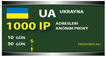 Ukrayna - 1000 IP Adresi