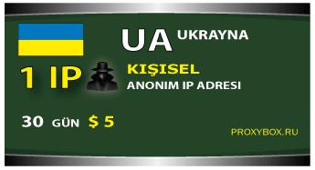 Ukrayna - kişisel IP adresi