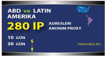 ABD ve Latin Amerika - 280 IP Adresi