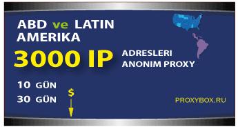 ABD ve Latin Amerika - 3000 IP Adresi