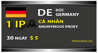 DE (Germany) personal 1 IP proxy