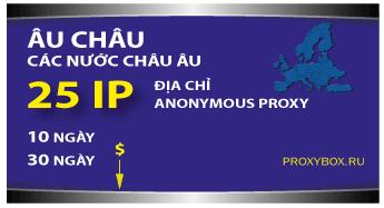 Europe 25 IP proxies