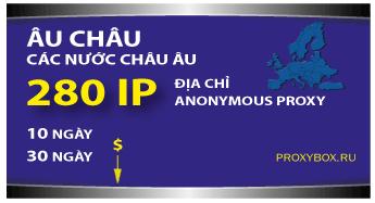 Europe 280 IP proxies