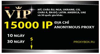 15000 IP, anonymous proxy