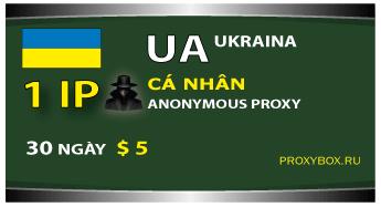 UA (Ukraine) personal 1 IP proxy