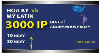 USA and LATINA - 3000 IP proxies